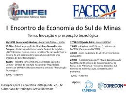 II Encontro de Economia do Sul de Minas