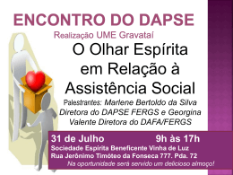Encontro do Dapse