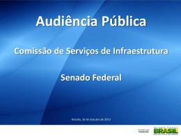 Slide 1 - Ministério dos Transportes