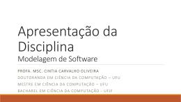Distribuição de Notas - Profa. Cintia Oliveira