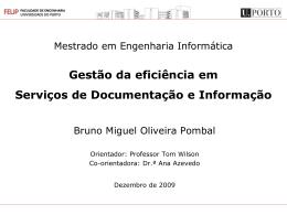 SDI Serviço de Informação e Documentação
