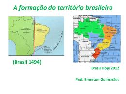 A formação do território brasileiro 7ª