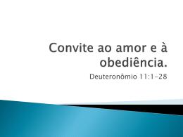 Exortação ao amor e à obediência.