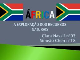África: A EXPLORAÇÃO DOS RECURSOS NATURAIS