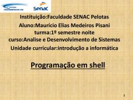 Programação em shell