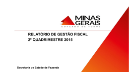 Slide 1 - Secretaria de Estado de Fazenda de Minas Gerais