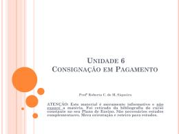 Unidade 6 Consignação emPagamento