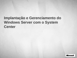 Implantando e Gerenciando o Windows Server