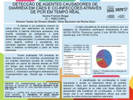 DETECÇÃO DE AGENTES CAUSADORES DE DIARRÉIA