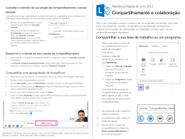 Lync Sharing and Collaboration Quick Reference Card