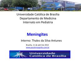( Universidade Católica de Brasília): Meningites