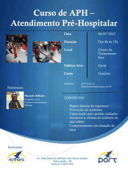 Curso de APH * Atendimento Pré-Hospitalar