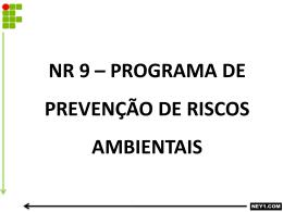 nr 9 * programa de prevenção de riscos ambientais