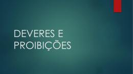 Servidores Públicos_Deveres e Proibições