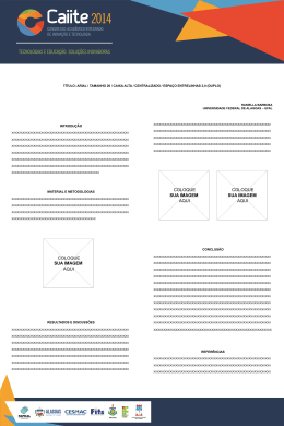 arial / tamanho 26 / caixa alta / centralizado / espaço entrelinhas 2,0