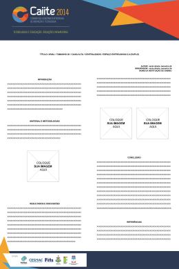 título: arial / tamanho 26 / caixa alta / centralizado / espaço