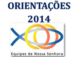 Orientações 2014 - Apresentação
