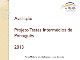 Diapositivo 1 - Projeto Alicerces