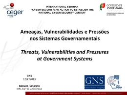 Ameaças, Vulnerabilidades e Riscos nos