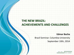 the new brazil: achievements and challenges
