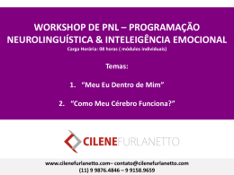 Workshop de PNL - Cilene Furlanetto