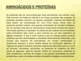 Aminoácidos e proteínas - Universidade Castelo Branco