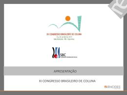 XXV Congresso Brasileiro de Coluna LOCAL