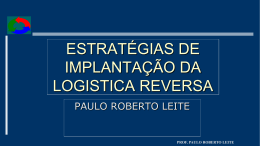parte 5 - estratégias de implantação da logistica reversa