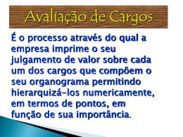 Avaliação de Cargos