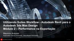 Autodesk Revit para o Autodesk 3ds Max Design