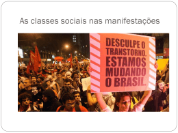 As classes sociais nas manifestações