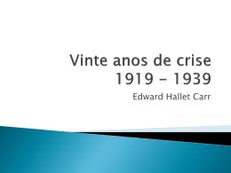 Vinte anos de crise 1919