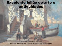 Excelente leilão de arte e antiguidades