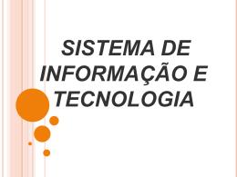 trabalho de sistema de informação e técnologia - SIT2011-1