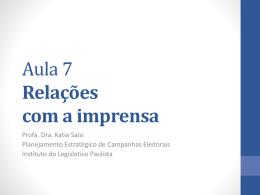 material aula 7 - Assembleia Legislativa do Estado de São Paulo