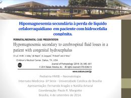 Hipomagnesemia secundária à perda de líquido cefalorraquidiano