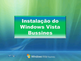 Instalação do Windows Vista Bussines