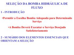 Seleção de bombas - itens importantes