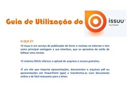 Guia de Utilização do ISSUU