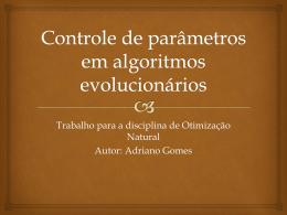 Controle de parâmetros em algoritmos evolucionários
