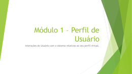 Módulo 1 * Perfil de Usuário