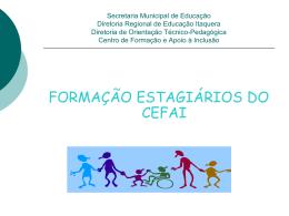 Apresentação - Secretaria Municipal de Educação