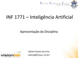 Inteligência Artificial - Apresentação da Disciplina