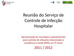 Reunião da CCIH com gerentes de enfermagem do