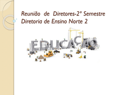 Reunião de Diretores-2º Semestre - Diretoria de Ensino