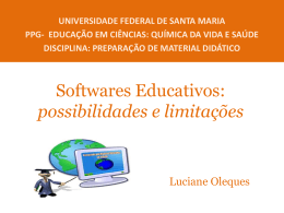 Software no contexto escolar: possibilidades e limitações