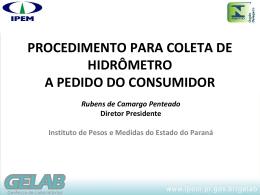 IPEM-PR - Medidores de Água - Rubens Camargo