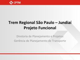 CPTM - Trem Regional São Paulo - Jundiaí