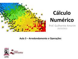 Cálculo Numérico - Cap 1 - Arredondamento