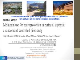 Uso da melatonina para neuroproteção na asfixia perinatal